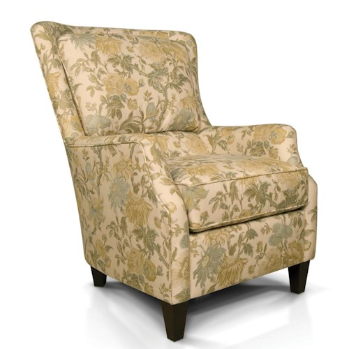 England Loren Plush Back Club Chair