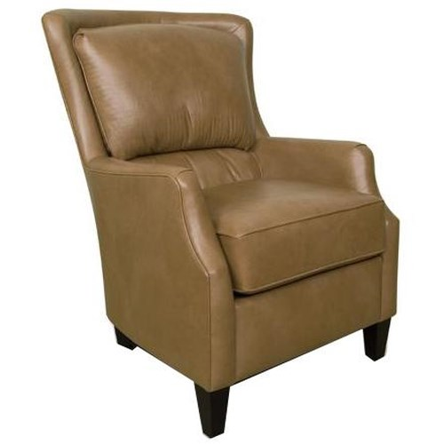 England Louis Upholstered Club Chair with Tapered Wood Feet