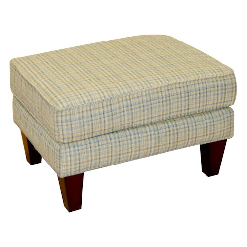 England Nash Ottoman with Wooden Legs