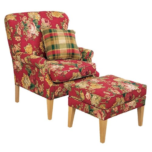England Natalie Chair and Ottoman