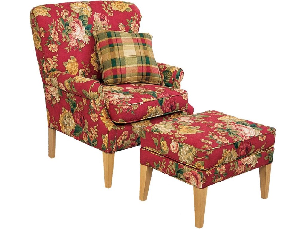 Shown With Ottoman and Pillow