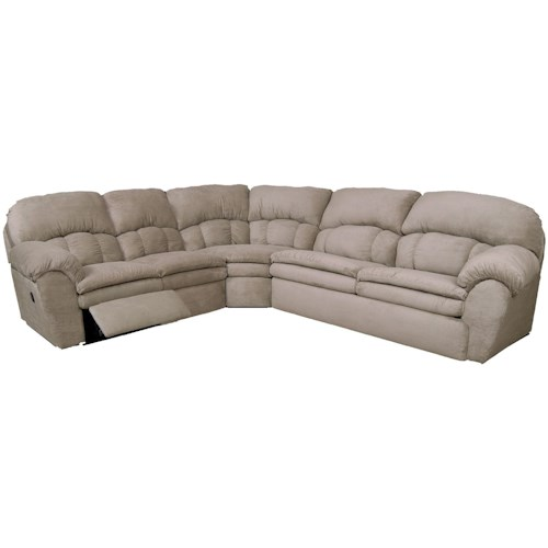 England Oakland 3 Piece Reclining Sectional Sofa with Right Arm Sleeper