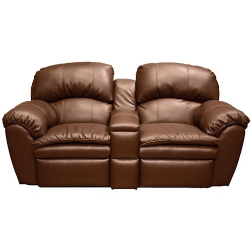 England Oakland Double Reclining Loveseat With Middle Console Furniture And Appliancemart
