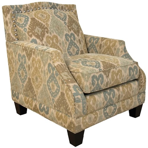 England Paige Traditional Upholstered Chair with Nail Head Trim