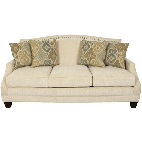 England Paige Traditional Stationary Sofa with Nail Head Trim