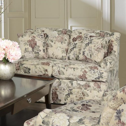 England Rochelle Skirted Loveseat