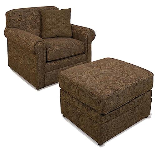 England Savona Chair and Ottoman Combo