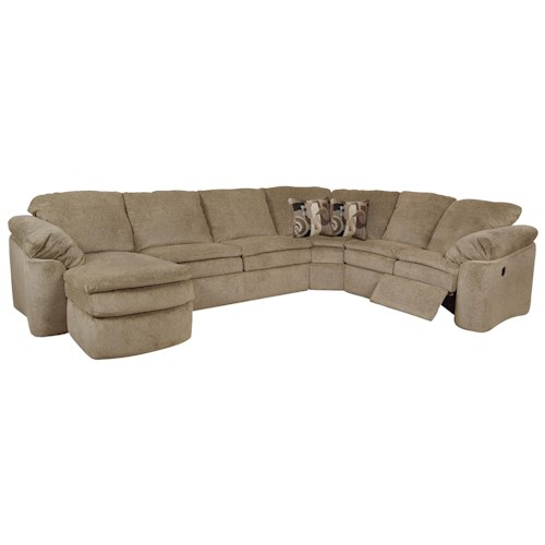 England Seneca Falls Upholstered Sectional Sofa