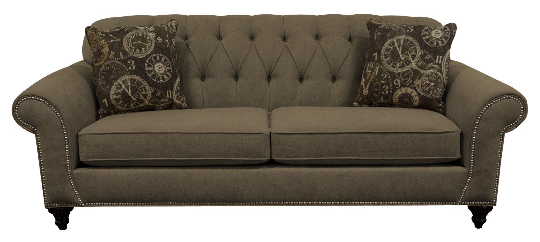 England Stacy Sofa with Nailheads and Button Tufted Seat Back - Jordanu0026#39;s Home Furnishings - Sofa ...
