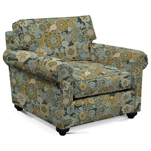 England Sumpter Chair with Rolled Arms