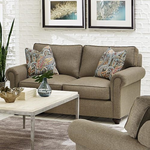England Sumpter Loveseat with Rolled Arms