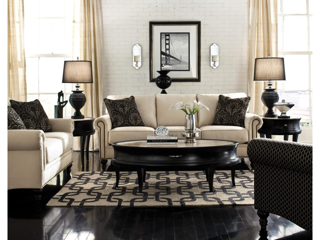 Shown with Coordinating Collection Loveseat. Collection Chair Shown Right Corner.