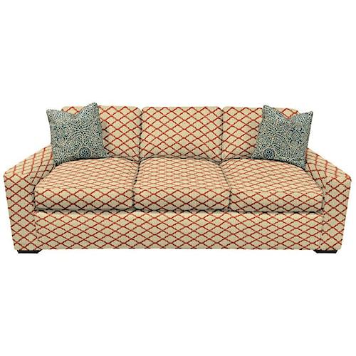 England Treece Stationary Sofa with Block Feet