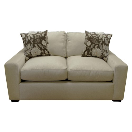 England Treece Loveseat with Casual Contemporary Style