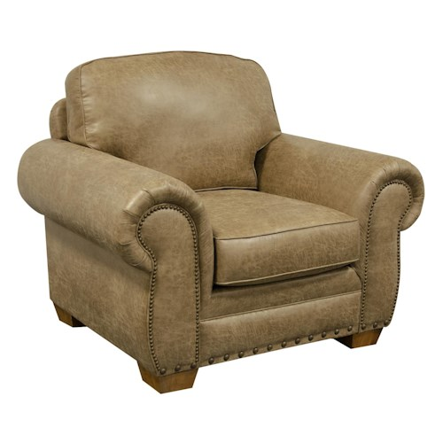 England Walters Chair with Nailhead Trim