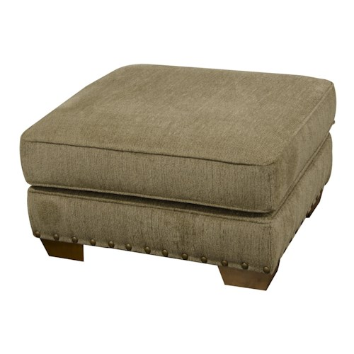 England Walters Ottoman with Nailhead Trim