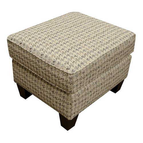 England Weaver Ottoman with Casual Style
