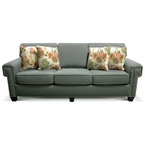 England Yonts Sofa Sleeper with Nailhead Trim