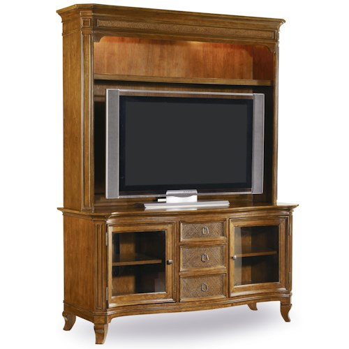 Hooker Furniture Windward Entertainment Console & Hutch