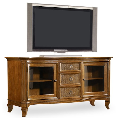 Hamilton Home Windward Entertainment Console with Glass Doors