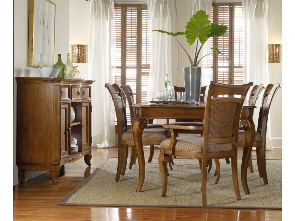 Shown with Raffia Side Chairs, Rectangular Leg Dining Table, and Buffet