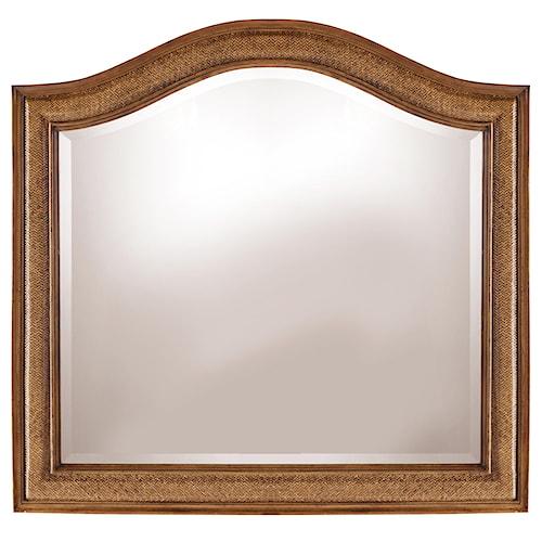 Hooker Furniture Windward Raffia Mirror with Arched Crown
