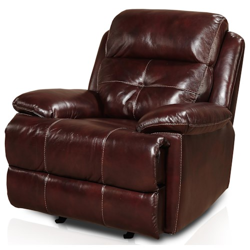 Belfort Signature Motion 18141 Glider Recliner with Pillow Arms
