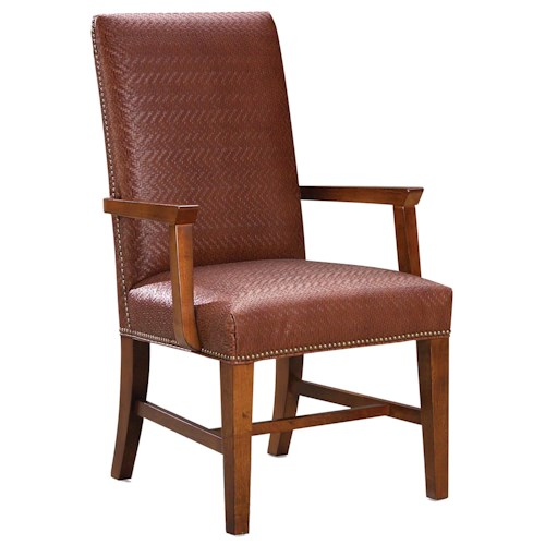 Fairfield 1011  Upholstered Arm Chair with Nail Head Trim