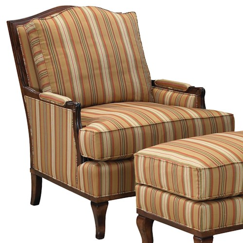 Fairfield 1416 Exposed Wood Lounge Chair