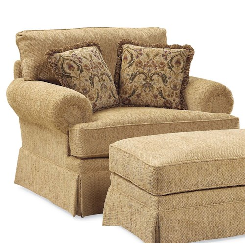 Fairfield 3736 Oversized Skirted Lounge Chair