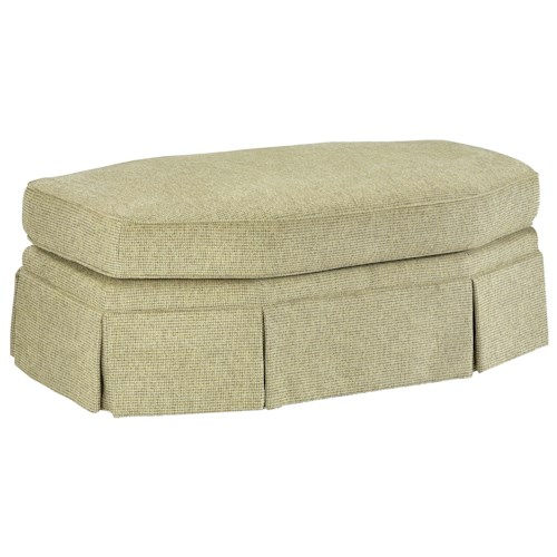 Fairfield 3766 Elegant Eight-Sided Oval Ottoman