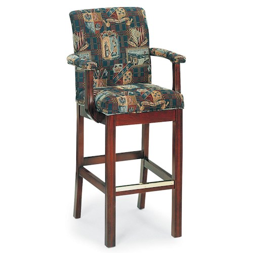 Fairfield Barstools Upholstered Bar Stool with Chippendale Legs