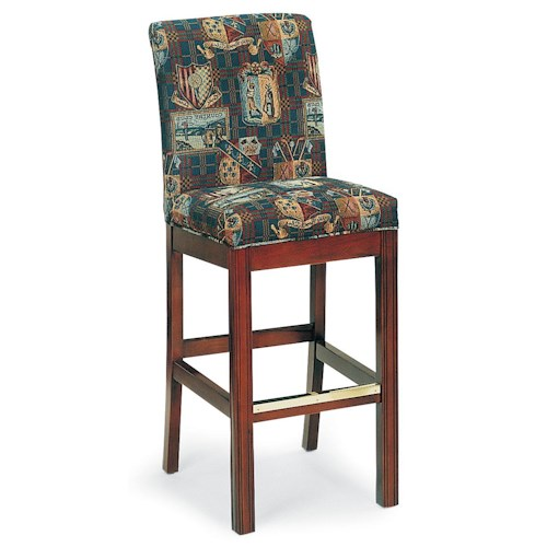 Fairfield Barstools Armless Bar Stool with Chippendale Legs