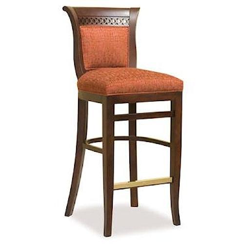 Fairfield Barstools Traditional Barstool w/ Upholstered Seat
