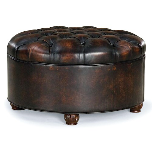 Fairfield Ottomans Round Ottoman with Button-Tufting