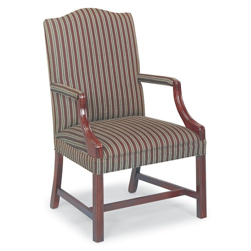 Fairfield Chairs Exposed Wood Camel-Back Chair