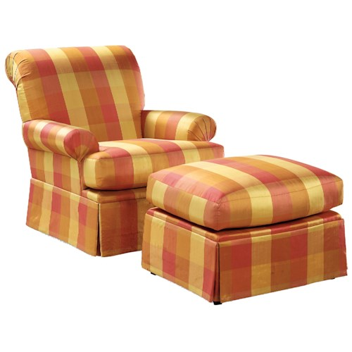 Fairfield Chairs Sea-Shell Pleated Swivel Chair & Ottoman Set