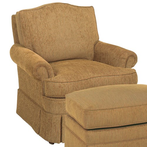 Fairfield Chairs Camel Back Swivel Glider