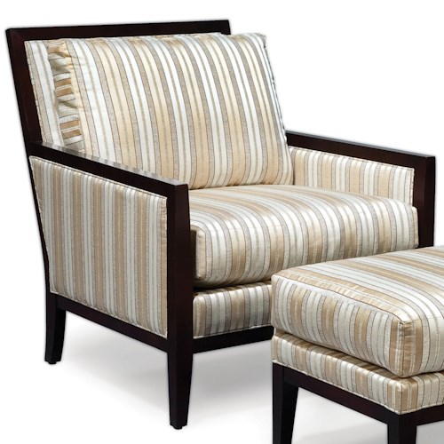Fairfield Chairs Upholstered Exposed Wood Lounge Chair