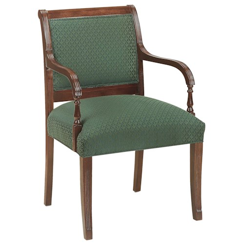 Fairfield Chairs Elegant Exposed Wood Chair