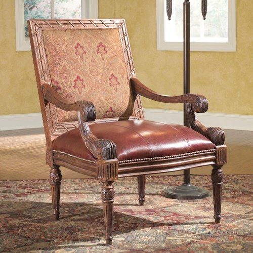 Fairfield Chairs Rustic Carved Accent Chair