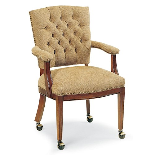 Fairfield Chairs Button Tufted Occasional Chair with Casters