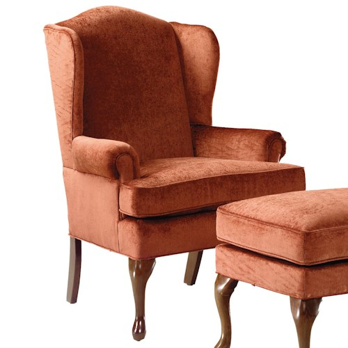 Fairfield Chairs Wing Chair with Cabriole Front Legs