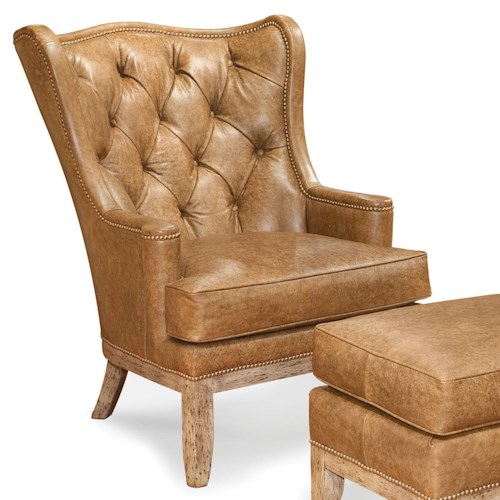 Fairfield Chairs Tufted Wing Chair with Nailhead Trim