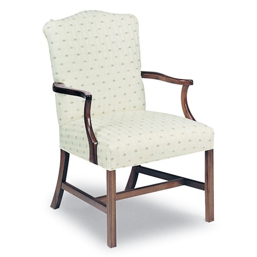 Fairfield Chairs Upholstered Exposed Wood Chair with Chippendale Legs
