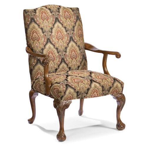 Fairfield Chairs Upholstered Exposed Wood Accent Chair
