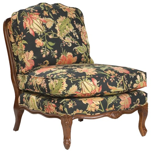 Fairfield Chairs Traditionally Styled Armless Lounge Chair