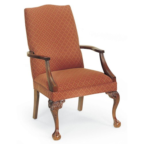 Fairfield Chairs Traditional Exposed Wood Arm Chair