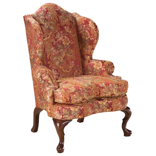 Fairfield Chairs High Back Wing Chair in the Traditional Style