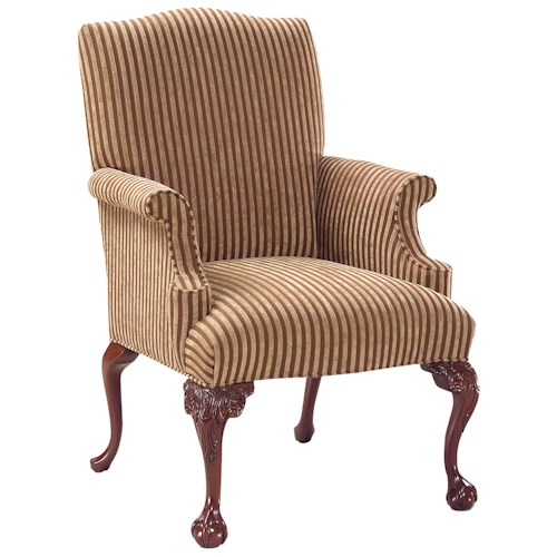 Fairfield Chairs Luxurious Accent Chair with Claw and Ball Feet